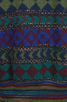 MISSONI Men's Circa 1990s Blue & Green Abstract Sweater