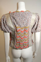 NORMA CANADA Handmade Knit Sweater with Snakeskin Inserts