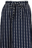 VALENTINO Boutique Circa 1960s Navy & White Floral Pattern Skirt