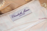 ELIZABETH MASON COUTURE 'Adrian' Made To Measure Silk Lame Gown