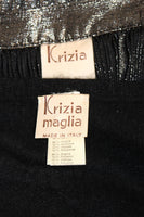 KRIZIA MAGLIA Sweater with Lace Inset and Metallic Skirt