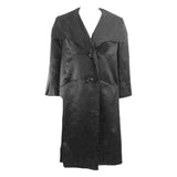 JAMES GALANOS 1960s Black Satin Opera Coat