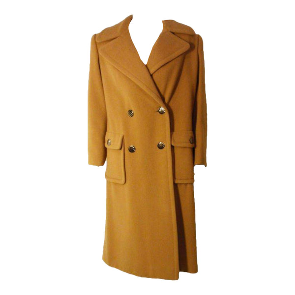 JAMES GALANOS 1960s Dark Camel Wool Coat