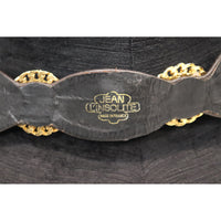 Jean L'Insolite Black Leather W/ Gold Accents Belt