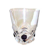 LALIQUE Floride Dark Amethyst Cabochon Whiskey Glasses - Set of 6