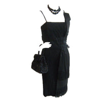 LOWI & CO Black Scarf Detailed Cocktail Dress