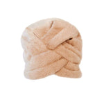 This is a great vintage hat from Jeanne Lanvin. It is a turban style bucket hat that is made of a soft and furry wool felt. Lanvin by Castillo for Saks 5th Ave Beige Felted Fuzzy Turban Hat, 1960s