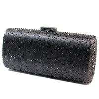 Elizabeth Mason Couture 'Large' Rhinestone Jeweled Evening Clutch with Long Chain