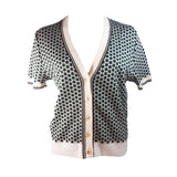 MARNI Four Leaf Clover Button Up Knit Cardigan Size 38