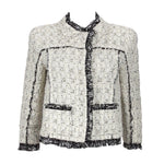 OSCAR DE LA RENTA Black & White Crop Jacket