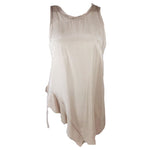 PHILLIP LIM 3.1 Nude Sleeveless Silk Asymmetrical Hem Top Size 2