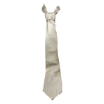 PIERRE CARDIN White on White Diamond Detail Men's Silk Tie 58 1/2 in.