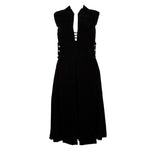 PAULINE TRIGERE Black Silk Velvet Cocktail Dress