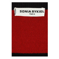 "SONIA RYKIEL ""Mille Et Une Nuits"" Red and Black Wool Sweater"