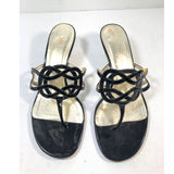 VALENTINO Black Patent Leather Heels Size 36 1/2