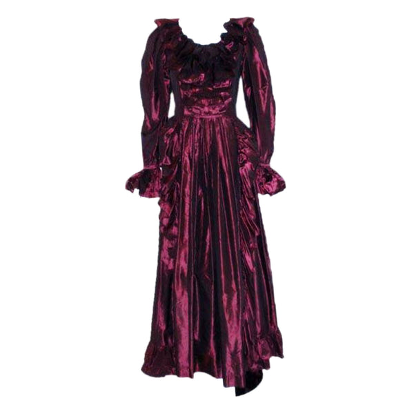 YVES SAINT LAURENT 1990s Purple Iridescent Silk Taffeta Gown