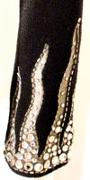 ADOLFO Black Knit Evening Gown with Rhinestone Hemline Details Size 6