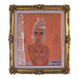 IGOR PANTUHOFF 1960s Peach Girl with Platinum Hair Painting
