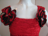 MAGGIE REEVES Red Flamenco Ruched Dress