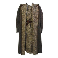 PAULINE TRIGERE 1980s 3 pc Wool Tweed Ensemble