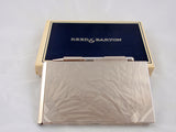 REED & BARTON Small Silver Note Pad with Pencil Original Box and Dust Bag