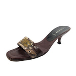 PRADA Brown Multi Color Snake w/ Grommet Size 38.5