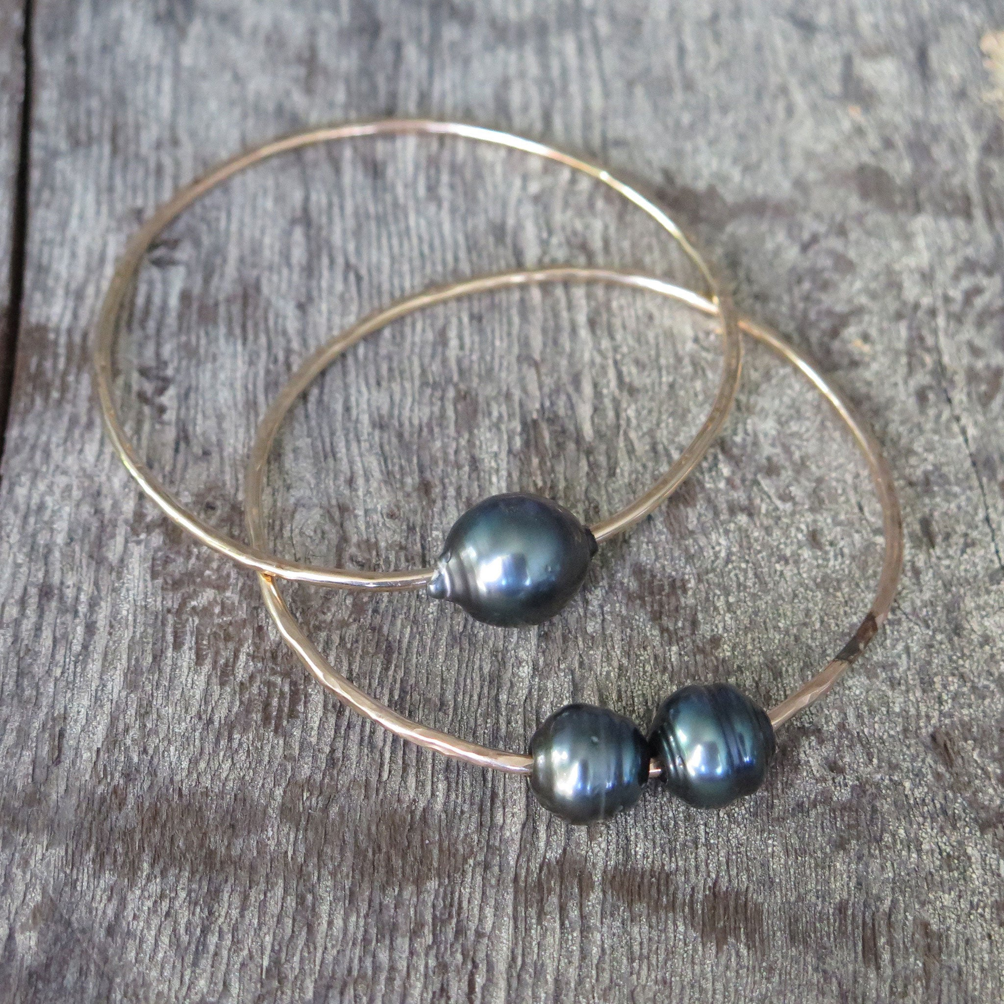 Double Tahitian Pearl Bangle