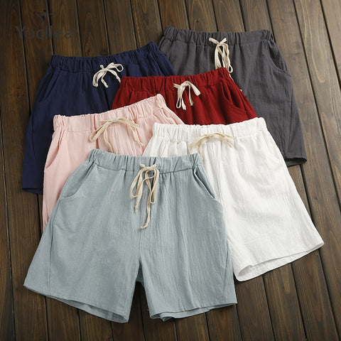 Summer Shorts Women Cotton