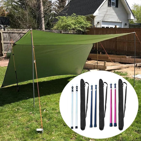 2Pcs Portable Telescoping Tarp Poles