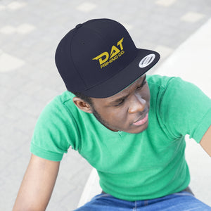 Yellow DAT Embroidered Flat Brim