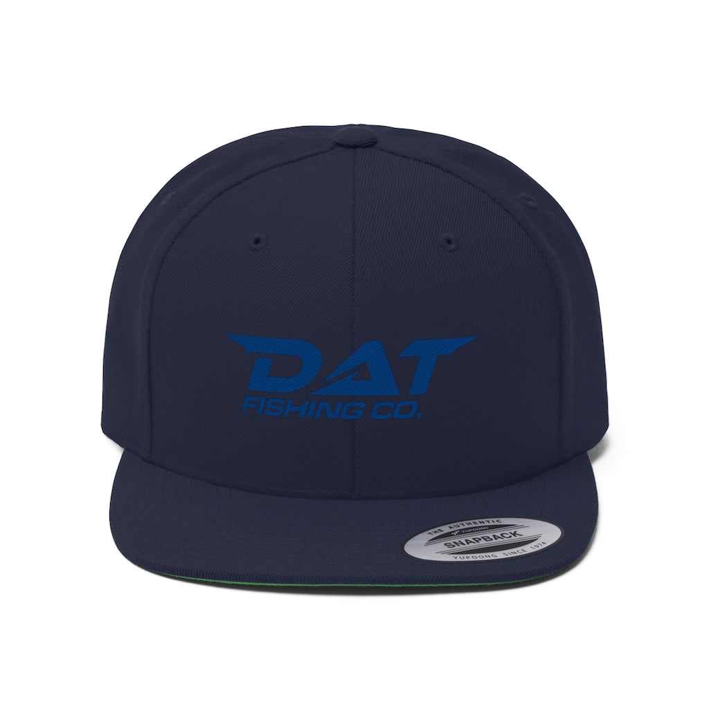 Blue DAT Embroidered Flat Brim