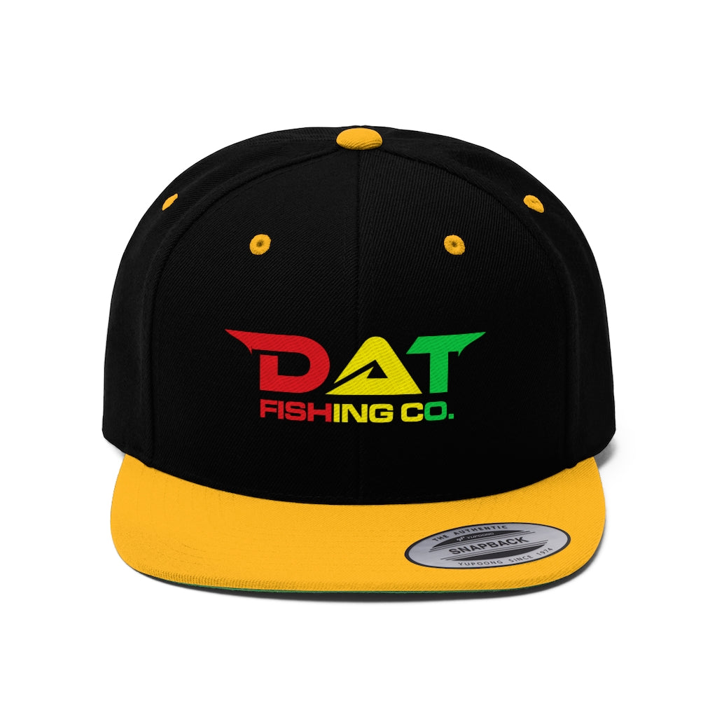 Rasta DAT Embroidered Flat Brim