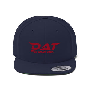 Red DAT Embroidered Flat Brim