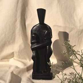 Black wooden sculpture