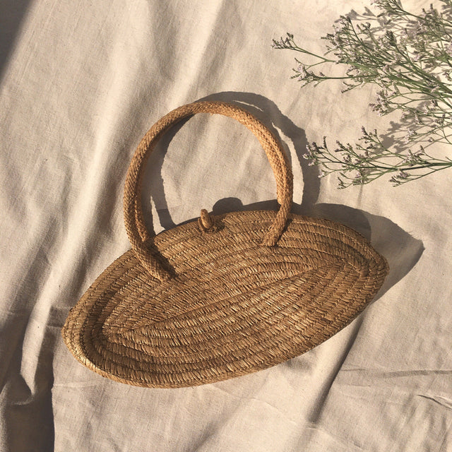 Seventies straw hand bag