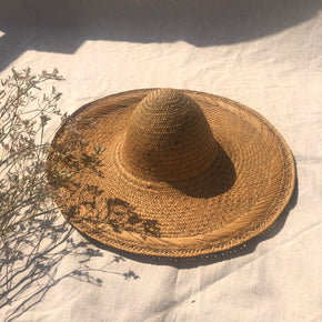 Decorative straw hat