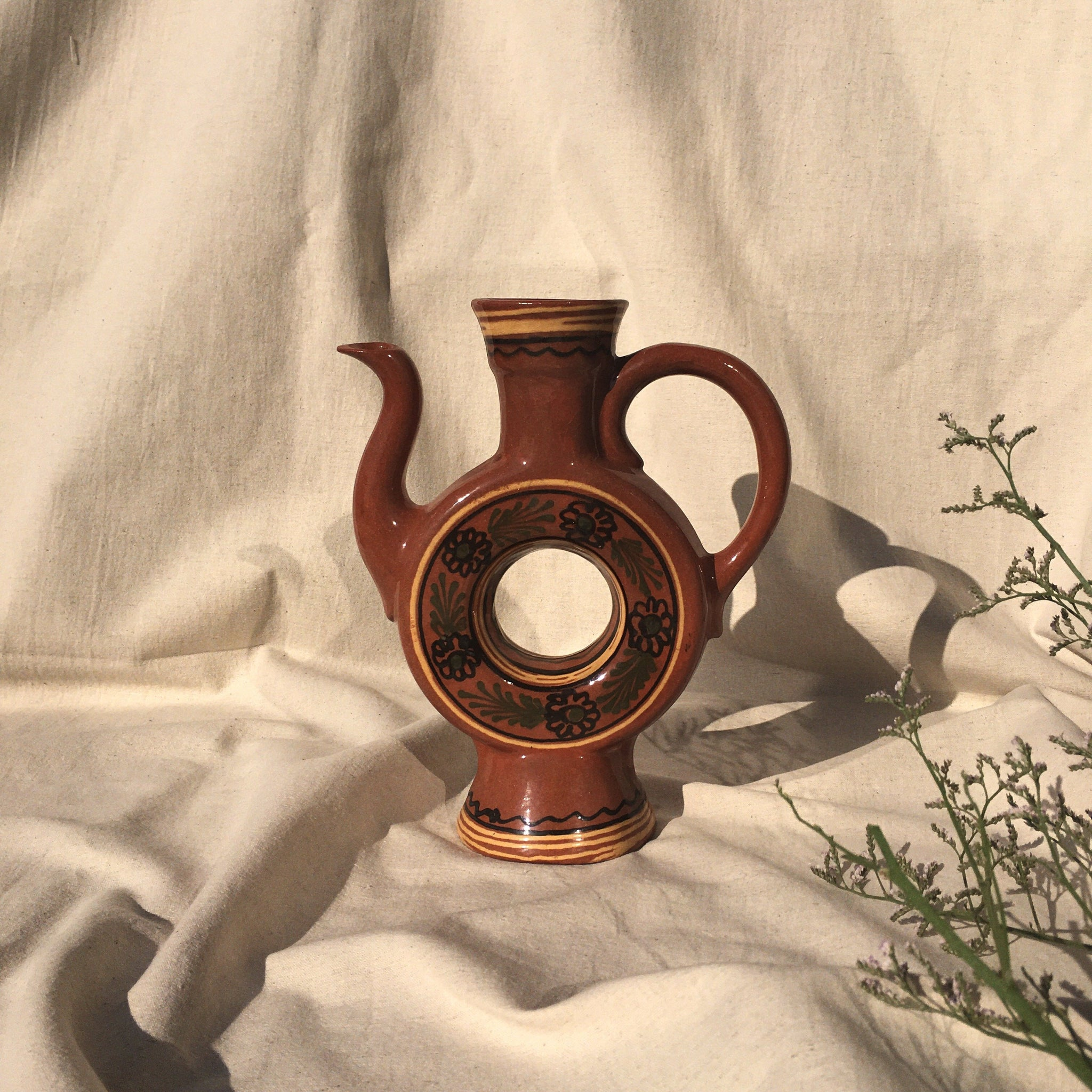 Figurative ceramic jug