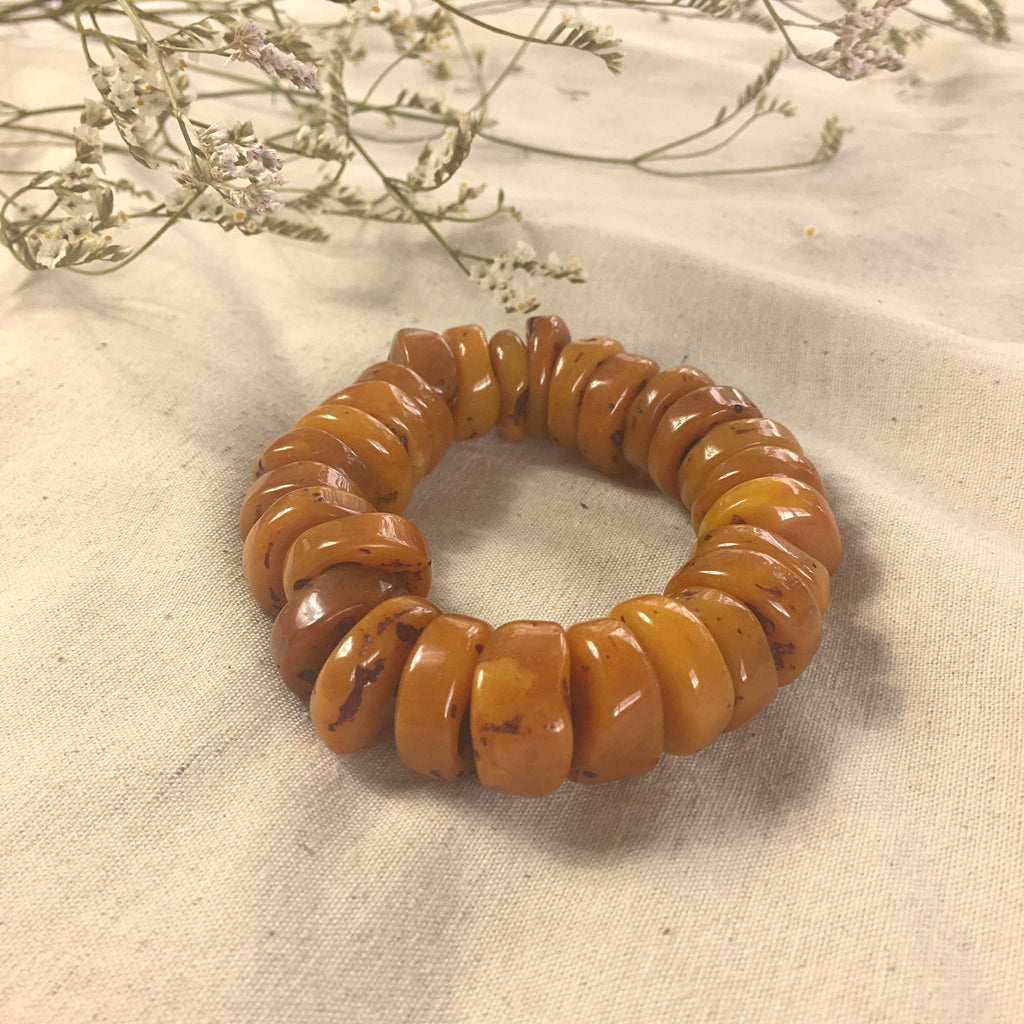 Orange glass bracelet