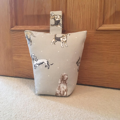 Dog print Lavender scented door stop