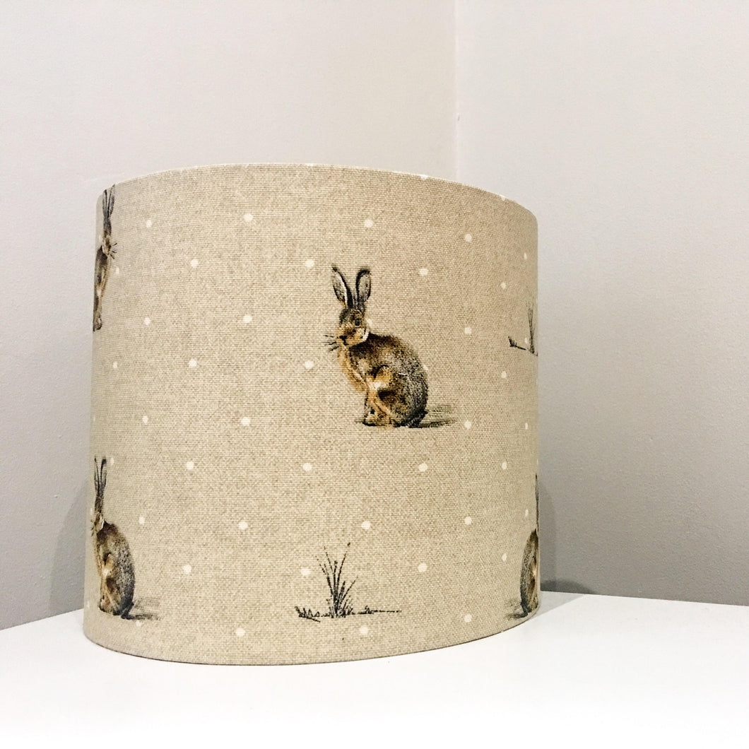 Rabbit Print Drum Lampshades