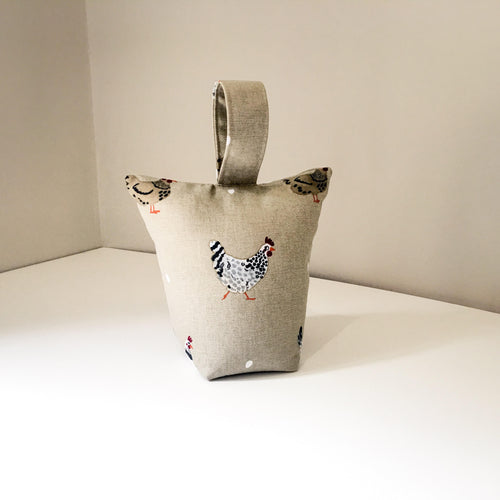 Chicken print Lavender scented door stop