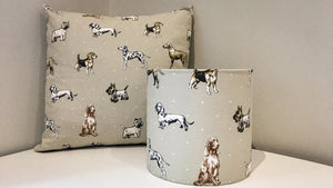 Dog Print Drum Lampshades