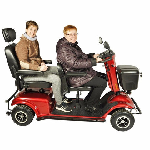 Wholesale!Double Seat Electric Scooter Two People Mobility Scooter - gadgetslines