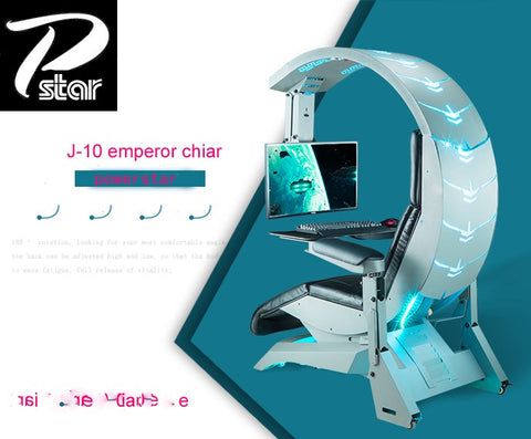 The insane PC workstation and gaming setup automatic Scorpion PC chair - gadgetslines