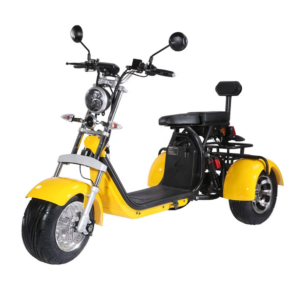 WholeSale! 40ah 3 three wheels electric scooter eec coc citycoco trike - gadgetslines