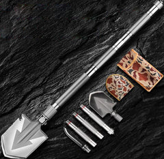 Outdoor Tactical Camping Shovel 58 HRC  Multitool Folding Shovel Lifter Mounted Shovel Fishing Outdoor Emergency Camping Tool - gadgetslines