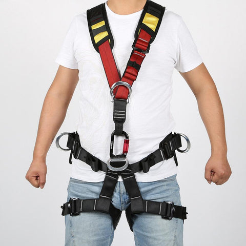 Professional Outdoor Climbing Aerial Work Climbing Safety Harness Shoulder Climbing Harness Half Body Survival Equipment - gadgetslines