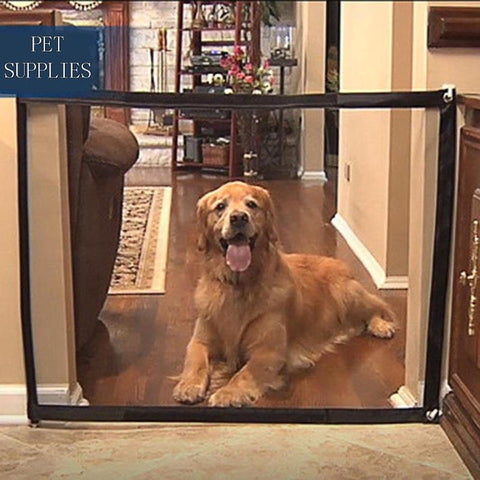 Portable Pet Barrier Folding Breathable Mesh Net Dog Separation Guard Gate Pet Isolated Fence Enclosure Dog Safety Supplies - gadgetslines