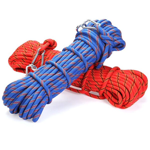 Professional climbing rope utdoor 8mm diameter high strength for survival paracord safety rope hiking rope accessory - gadgetslines