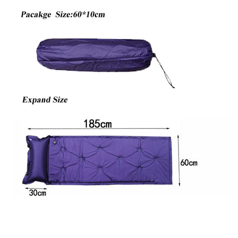 Inflatable camping mat, air mattress + bag - gadgetslines